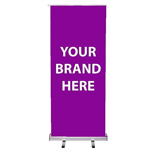 Krishna Roll Up Standee Banner Without Flex Silver (2.5 x 6 FT)