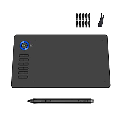 VEIKK A15 Graphics Drawing Tablet 10x6 Inch Digital Drawing Tablet with 8192...