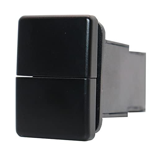 BIGSELL Big Sell 001 Interruptor de botón de Doble pulsador de 12V Sin patrón Azul/Verde Retroalimentación con conexión Conector Ajuste para Toyota 4RUNNER HILUX Prado RAV4 (Color : Blue)