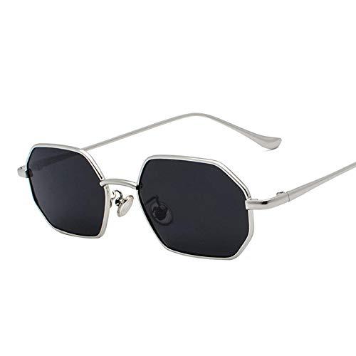 IRCATH Gafas de Sol Polígonos para Hombres y Mujeres Amarillo Lente Cuadrada Amarilla Vintage Small Mirror Adecuado para la conducción de la Playa y el Senderismo Puede ser el hogar de la Pesca del g