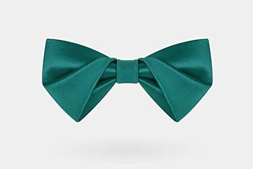 CEKINF Fliege Der Mode-Männer, Normallack-Silk Glatte Hals-Krawatte, Schwarzes Graues Rosa Rotes Purpurrotes Grünes Geschenk Für Hochzeitsfest-Geschäfts-Kleid-Grün