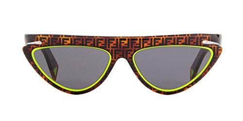 Occhiali da Sole Fendi FENDI FLUO FF 0383/S HAVANA GREEN/GREY 55/15/140 donna