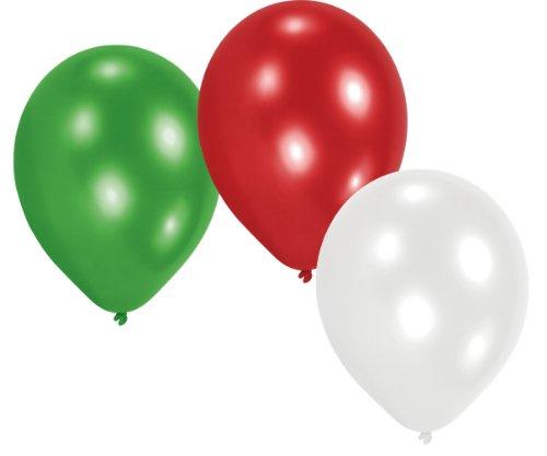 amscan 20 Ballons in Länderfarben Italien grün weiß rot