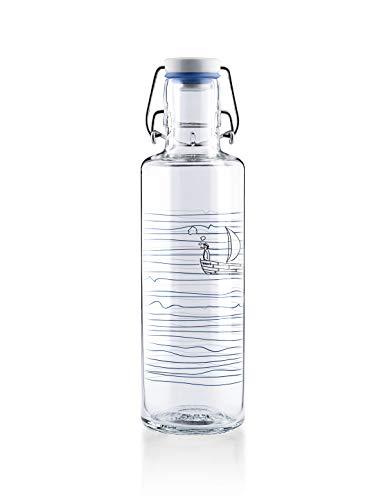 soulbottles 0,6l • Heimat.Wasser • Trinkflasche aus Glas • plastikfrei, nachhaltig, vegan
