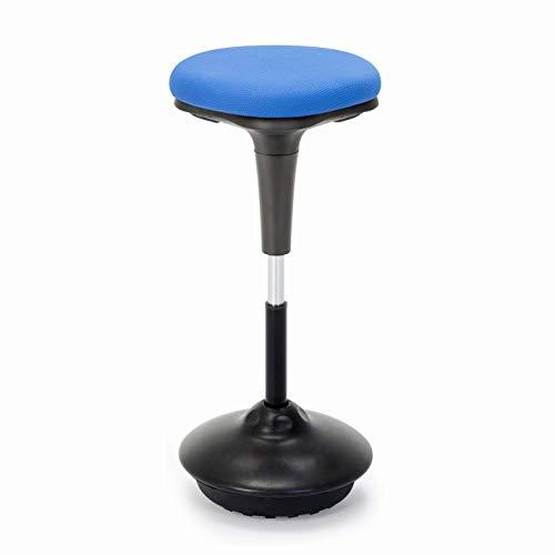 Arbeitshocker, Bürohocker,Ergonomische Stehhilfe, Hoch verstellbar 360° drehbar Sitzhocker Drehhocker, Perfekt für Stehpult (Blau)