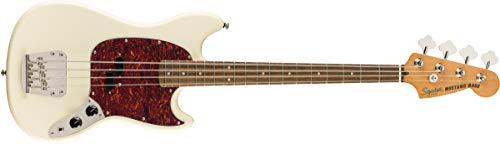 Squier by Fender Classic Vibe 60's Mustang Bass - Laurel - Olympic White