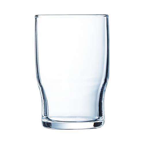 Arcoroc ARC 13831 Campus Trinkglas, Wasserglas, Saftglas, 220ml, Glas, transparent, 6 Stück