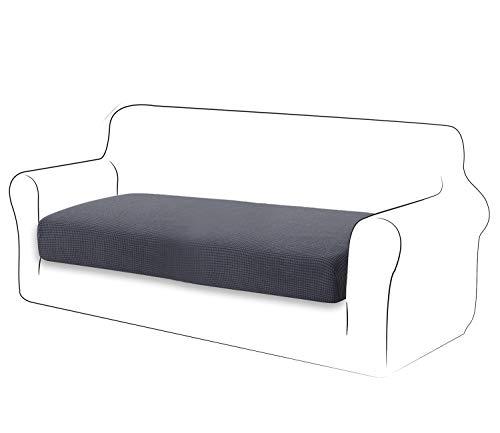 TIANSHU High Stretch Kissenbezug Sofakissen Schonbezug Möbelschutz Sofasitzbezug für Couch 1-teilige Kissenbezüge für 2 Sitzer (2 Sitzer, Grau)
