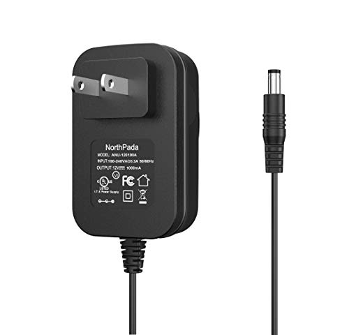 NorthPada Power Supply 12V Charger Adapter Cord for Yamaha PSR YPG YPT DD Keyboard Crosley Radio CR49 CR49-BT CR49-TA CR249 CR249-TA CR32CD CR6233A CR6233A-RE CR7002A Tech Turntable Record Player