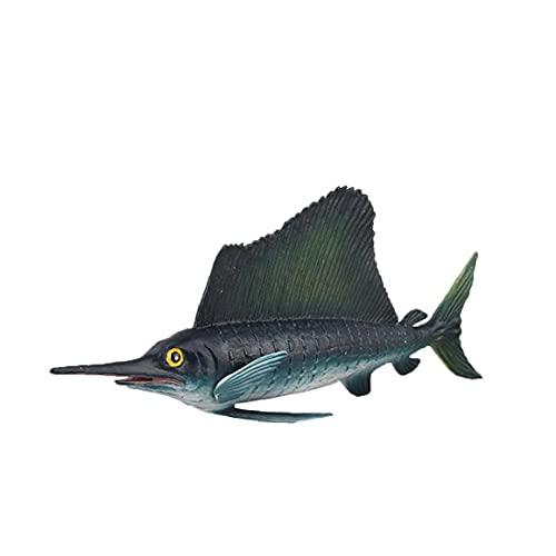 MaylFre Schwertfisch-Aquarium Dekor Ozean Bildung Tier Figur Modell Kind-Kind-Spielzeug-Hauptdekoration Banner