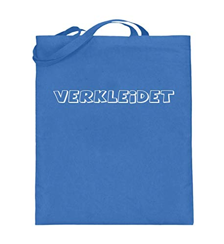 disfrazado, disfraz de carnaval, bolsa de yute (con asas largas)., color Azul, talla 38cm-42cm