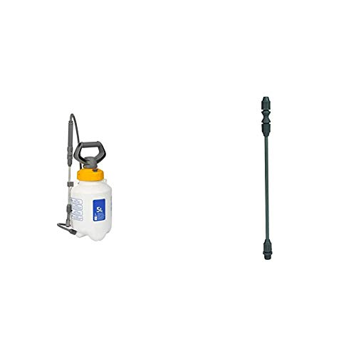 Hozelock 5 Litre Sprayer (Maximum fill* 3 Litre) for the Treatment of Plants using Herbicides, Pesticides, Fungicides or Applying Liquid Fertiliser & Garden Sprayer Extension Lance