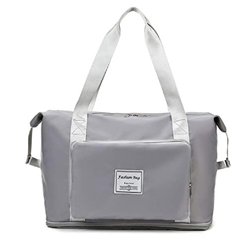 Bolsa de viaje de gran capacidad, plegable, bolsa de almacenamiento de equipaje de viaje, impermeable, tela Oxford para mujer