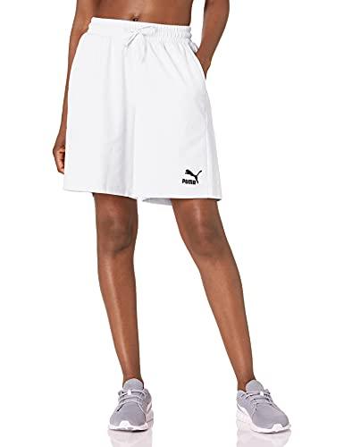 PUMA Damen Classics Bermuda Shorts, Weiß, Klein