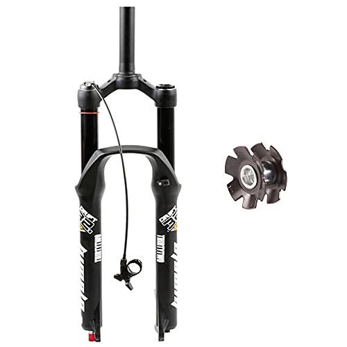 Mountainbike Upphängningsgaffel, Vertikal Rör Ytterdiameter 28,6 Mm, Aluminiumlegering, Fjädring Framgaffel Stötdämpare,resa 130 Mm QR 9X100MM (Color : Straight line, Size : 29in)