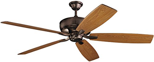 """Kichler 300206OBB Monarch 70"""" Ceiling Fan with Wall Control, Oil Brushed Bronze"""