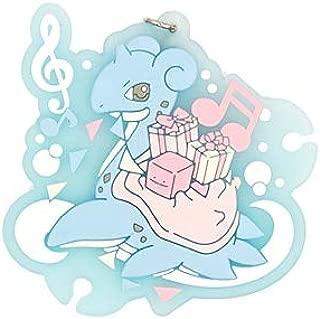 WOIA Pocket Monster Anime Mew Gengar Eevee Poketto Monsuta Rubber Keychain -Multicolor Complete Series Merchandise