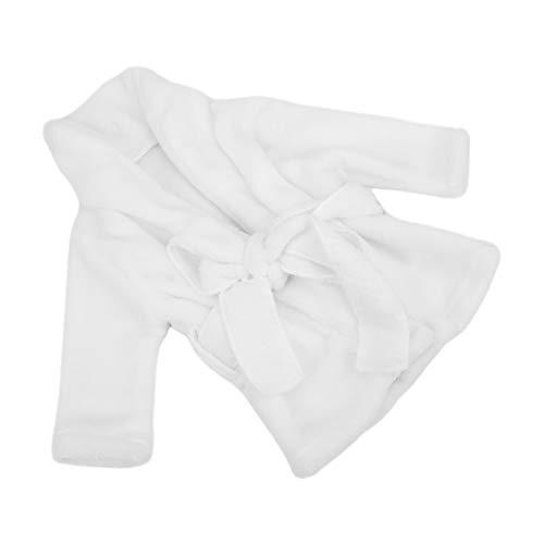 Nunafey Accesorios para Fotos Albornoces, Toalla de baño Hecha a Mano con Foto de bebé de Ganchillo, Bebé para niños(White)