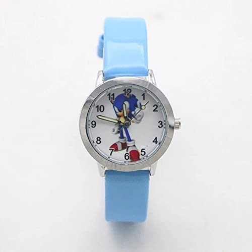 Sonic The Hedgehog Gift New Arrival High Quality Children Fashion Sonic Cartoon Wristwatch for Boys Girls Gifts Simple Student Kids Watch