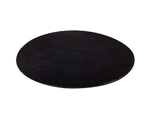 Alfombras Redondas Super Suave Sala de Estar Dormitorio Baño Sofá Alfombra Negro 60 * 60CM