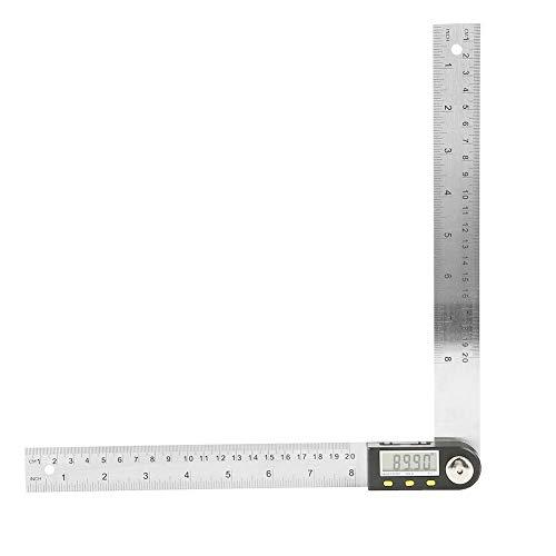 Jadeshay Digital Protractor-0-200mm Digital Angle Ruler Electronic Protractor Stainless Steel Goniometer Angle Finder Miter Gauge Ruler