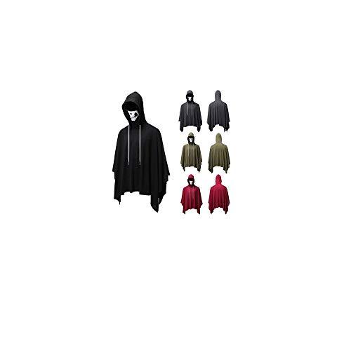 YWLINK Disfraz De Halloween Blusa De MáScara De Calavera Moda para Hombres Blusa De Color Puro De Novedad De Gran TamañO Juego De Roles Traje De Juego Fiesta De Carnaval