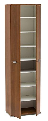 Legno&Design Armoire à 4 portes blanc, noyer chêne gris et autres couleurs