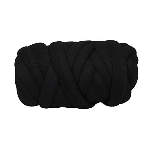 Hilo mullido jumbo 1 unid hilado grueso suave cómodo cómodo bricolaje hilos de lana de tejer a mano con un hilo grueso de color brillante con buena capacidad de recuperación (Color : 02)