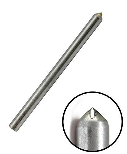Corintian graveerdiamant diamant graveersteek kegelslijp/rondslijping - Ø 3 – 6 mm, L 28,5 mm – 165 mm, 90 – 150 graden, geperforeerde diamant, tandgravure in metaal Ø 3,17mm, L 28,5mm