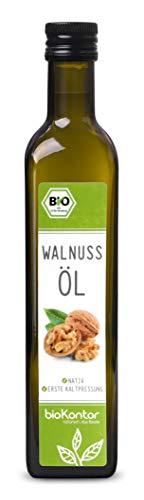 Bio Walnussöl - nativ, 1. Kaltpressung, 100% natur - bioKontor - 500ml
