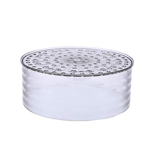 Clenp Cubierta aislada de alimentos, hogar apilable aislamiento a prueba de polvo contenedor de alimentos sobrante tapa plato cubierta transparente tipo corto