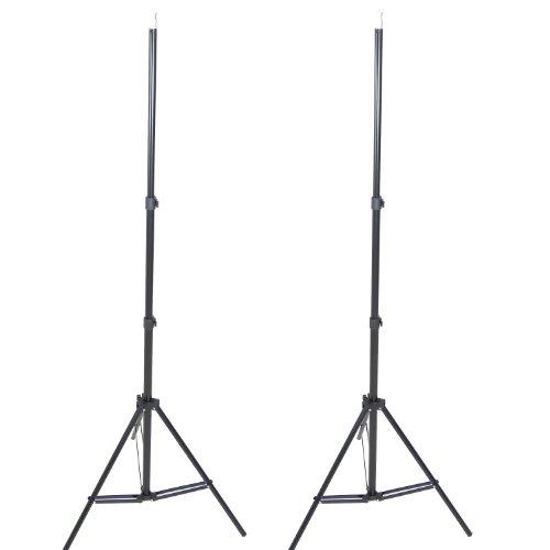DynaSun W803 Cavalletto Stativo Professionale, Kit da 2 Pezzi, 220 cm, Attacco Spigot Standard