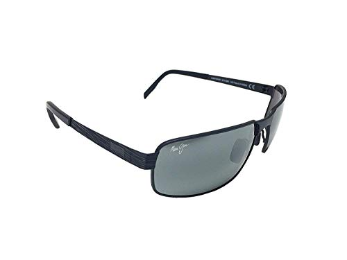 Maui Jim Castaway 187 – 02 M Color Negro mate/Color gris neutro