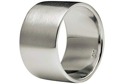 SILBERMOOS Anillo para hombres y mujeres pareja clásico Plata esterlina 925, Tamaño del anillo:16