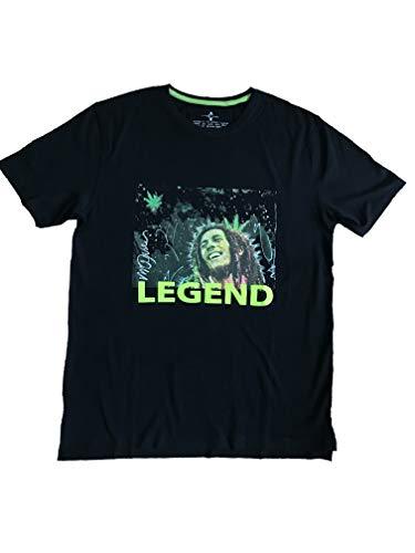 Sidney Maurer heren T-shirt, Bob Marley, zwart