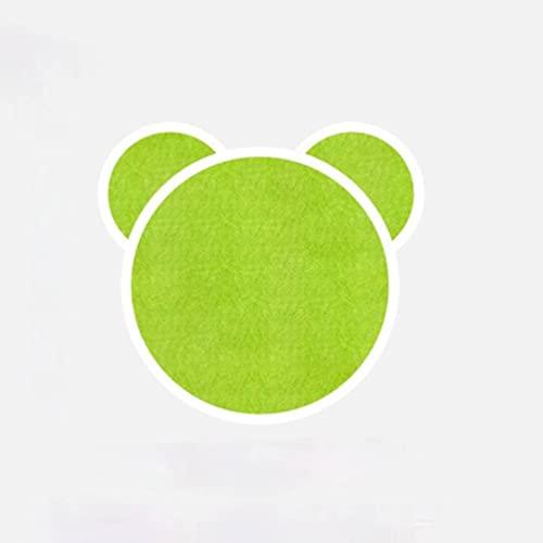 Tablero de fieltro con cabeza de oso diseño creativo para guardería/habitación de los niños, pegatinas de pared tridimensionales de tablero suave, decoración del tablero de anuncios