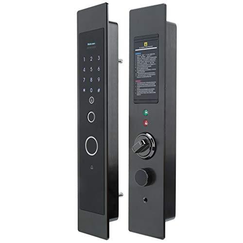 Cerradura de puerta, Cerradura de puerta con huella dactilar de gran capacidad, Cerradura inteligente de contraseña con huella dactilar, para sistema de seguridad del hogar