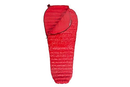 AEGISMAX Gänsedaunen Schlafsack Ultraleicht Mumienschlafsäcke Daunenschlafsack für Rucksack, ultraleichter Daunenschlafsack mit leichtem Kompressionsbeutel NANO1 Rot (M)