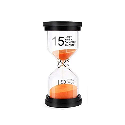Fablcrew Sablier Hourglass Horloge Sable Minuterie 15 Minutes pour La Maison Cuisine Exercice Classe Jeu de Société Minuteur