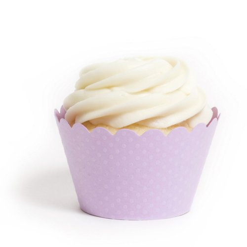 Dress My Cupcake Standard Lavender Cupcake Wrappers, Set of 12