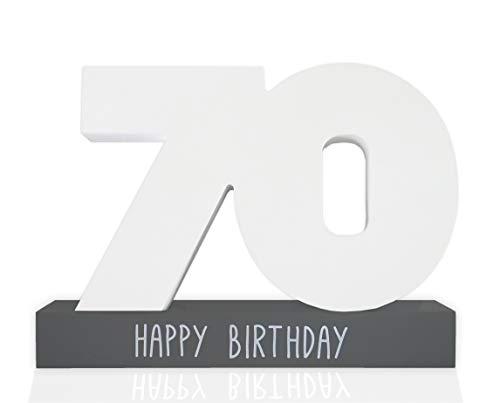 Huckleberry Home® Libro de visitas de cumpleaños de madera, libro de visitas para el cumpleaños para hombres y mujeres, incluye bolígrafo, idea de regalo creativa, decoración de mesa (70)