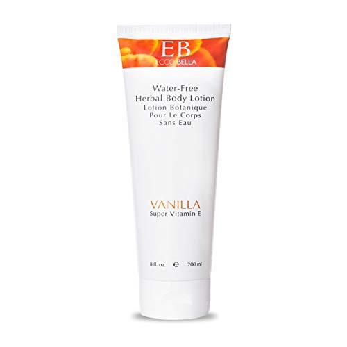 Ecco Bella, Organic Vanilla Herbal Hand and Body Lotion, Natural Vegan Moisturizer for Dry Skin Hydration (8 Oz.)
