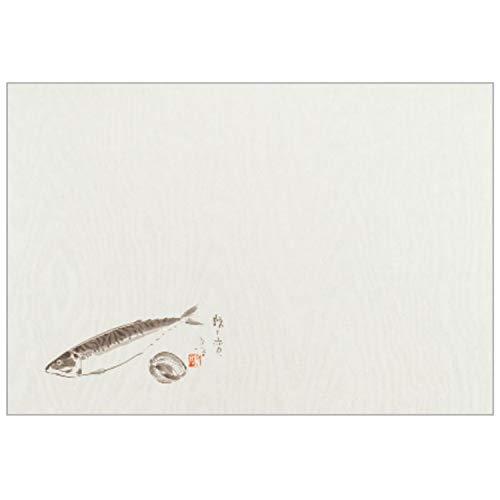 ナガオ ランチョンマット 鯖と赤貝 26x38cm 100枚セット 日本製 220608