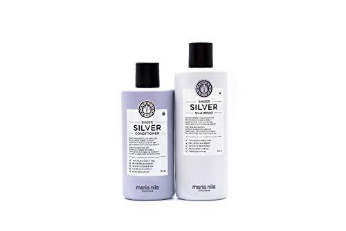 Maria Nila Sheer Silver Shampoo 350 ml & Conditioner 300 ml