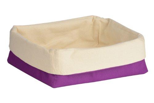 Premier Housewares 1901101 Panier à Pain en Polyester/Coton Crème/Violet