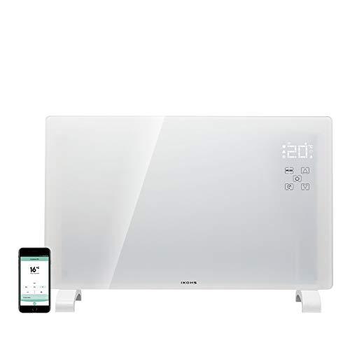 IKOHS EVERWARM GPH1500 WiFi Konvektor aus Glas weiß