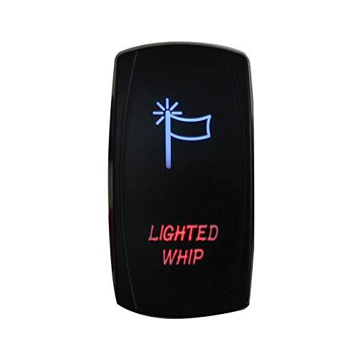 LICHONGUI Barco de Coches LED Cambio de Rocker Luces Azules Red 12V 24V 5 Pines Rocker Switch Botón para Caravan Marine 4x4