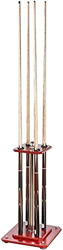WANQPPS0826 Billard Queueständer,Modernes rotes Pool-Queue-Rack aus Holz - 4 Queues, Pool-Stick-Halter-Eck-Bodenständer, für/Billardraum Billardwerkzeugen