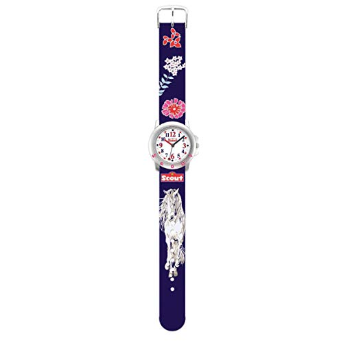 SCOUT Mädchen Analog Quarz Uhr mit PU Armband 280393006