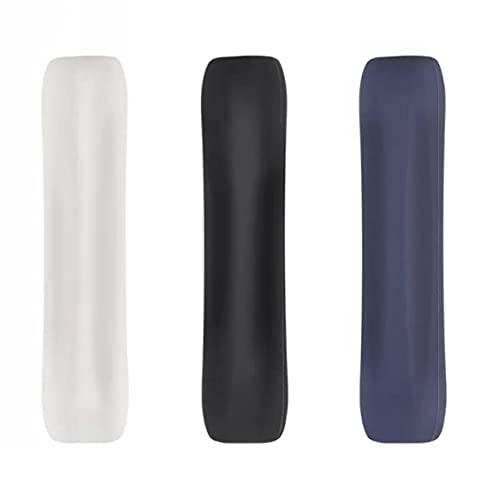 Soporte de agarre de silicona Compatible con lápiz de manzana Manga protectora antideslizante Wrap 3pcs Black Blue Blanco Oficina de uso común